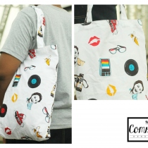 60's Time Tote Bag at Blisby