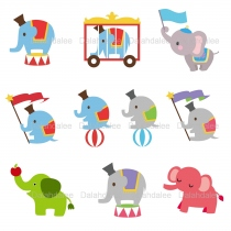 Elephant Digital Clip Art at Blisby