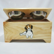 Pet Bowl Stand รุ่น -> Double Bowl with Box  at Blisby