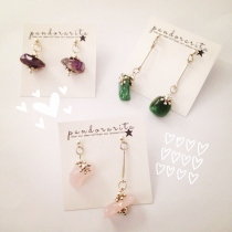 {lucky stone earring with snowflake} at Blisby