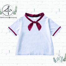 Red bow collar shirts at Blisby