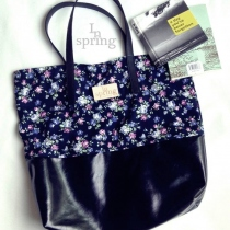 TOTE BAG  blue blossom flower at Blisby