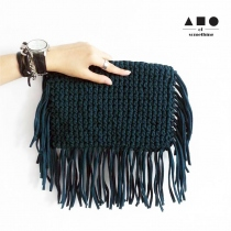 FRINGE CLUTCH (TEAL) at Blisby