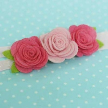 Rose Headband Baby Girl Accessories at Blisby