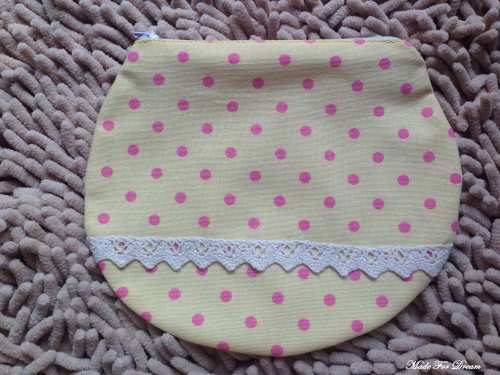 MFD polka dot yellow curve pouch*Handmade* สีเหลือง ลายจุด large image 1 by MadeForDream