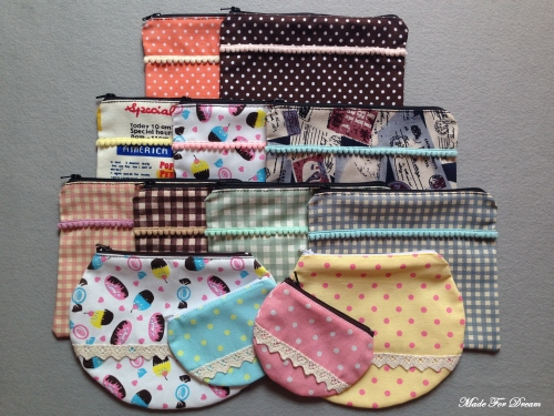 MFD polka dot yellow curve pouch*Handmade* สีเหลือง ลายจุด large image 3 by MadeForDream