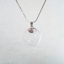 Enso necklace (Made from glass) 20mm silver 925 at Blisby