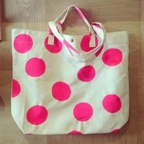 big dot design oversize tote bag at Blisby