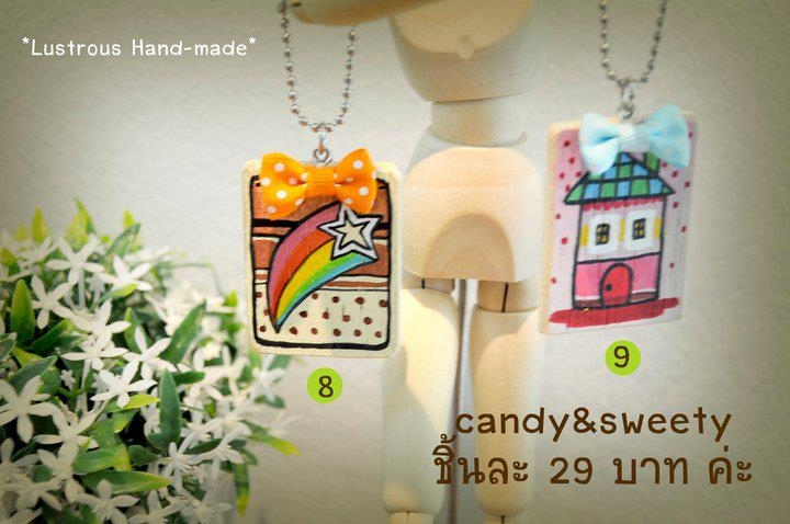 "keychain พวงกุญแจไม้ Collection ""sweety"" (keyrings)  large image 3 by vachidesign"