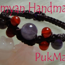 ข้อมือ [ 10 ] Amethyst+Carnelian at Blisby