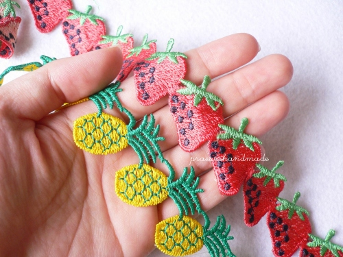 strawberry or pineapple ribbon ริบบินผลไม้ large image 0 by praewa