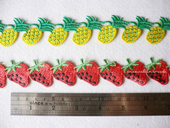 strawberry or pineapple ribbon ริบบินผลไม้ large image 2 by praewa