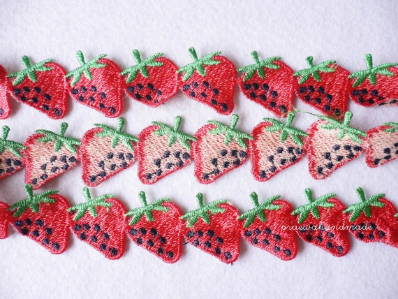 strawberry or pineapple ribbon ริบบินผลไม้ large image 3 by praewa