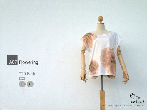 เสื้อยืดลาย Flowers large image 0 by SheSellsSeashells