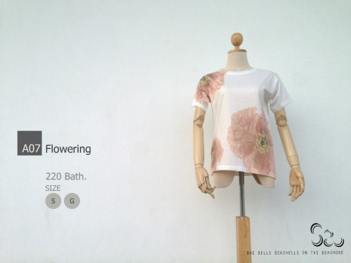 เสื้อยืดลาย Flowers large image 1 by SheSellsSeashells