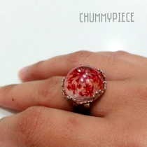red flower ring at Blisby