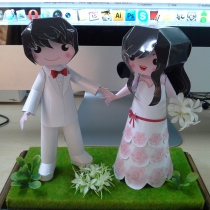 wedding gift paper model at Blisby