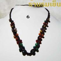 สร้อยคอ *6* Jade+Carnelian+Goldstone+Tiger Eye at Blisby