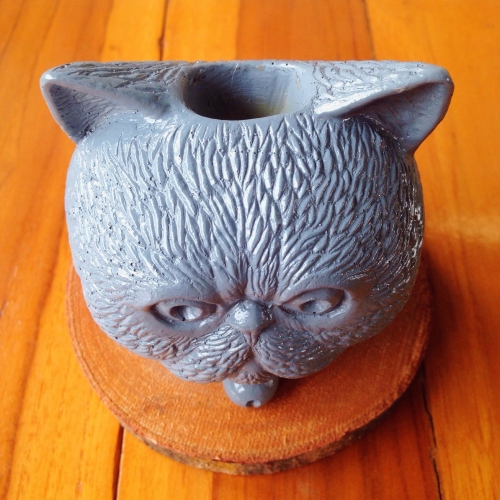 grey cat planter large image 2 by pimlate