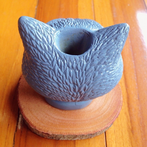 grey cat planter large image 3 by pimlate