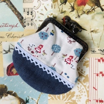 Coin Purse - Little Red riding hood combine with blue jean at Blisby