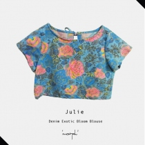 Denim Exotic Bloom Julie Blouse at Blisby
