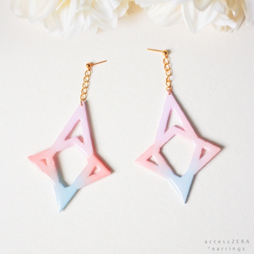 pastel Star * earrings  (ต่างหู สีพาสเทล ) large image 0 by accessZERA