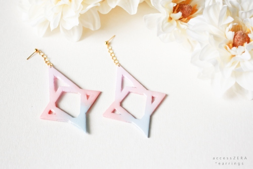 pastel Star * earrings  (ต่างหู สีพาสเทล ) large image 1 by accessZERA