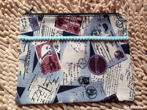 MFD letter striped pouch*Handmade* ลายจดหมาย large image 1 by MadeForDream