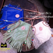 The boho bag handmade (blue,cream,green) at Blisby