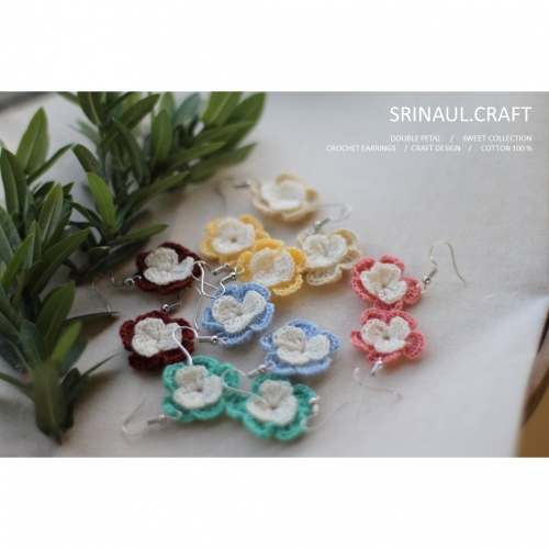double petal earring  large image 0 by Srinaul.Craft