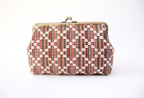 Ikat purse with across body chain  กระเป๋าสะพายข้างผ้าทอ boho chic  large image 0 by TunyTinyTreats