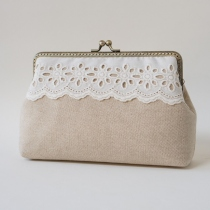 Rustic Purse with across body chain  กระเป๋าสะพายข้าง  at Blisby