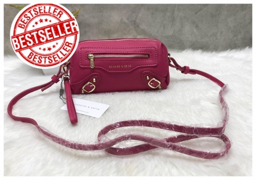 CHARLES & KEITH MINI SHOULDER BAG WITH ZIP large image 3 by Groovy