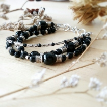 Onyx with karen hill tribe silver95.5% at Blisby
