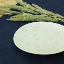 "Ceramics 6"" Dish, White Dripping Dot at Blisby"