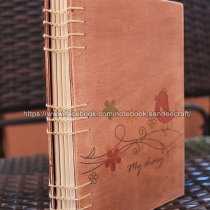 WOOD COVER NOTEBOOK DIARY. สมุดไดอารี่ปกไม้ ขนาด A5 at Blisby