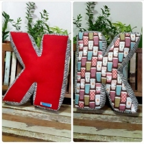 Pillow, Alphabet Letter Pillow, Single Letter Fabric Cushion - K at Blisby