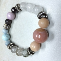 Pink opal and mixed stone at Blisby