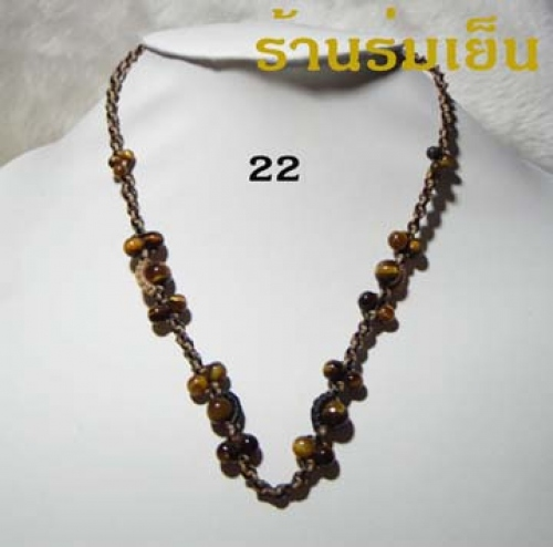 สร้อยคอ * 22 * Tiger Eye large image 0 by PukMade