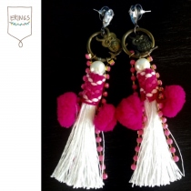 Bohemian Tassel Earring - Pink at Blisby