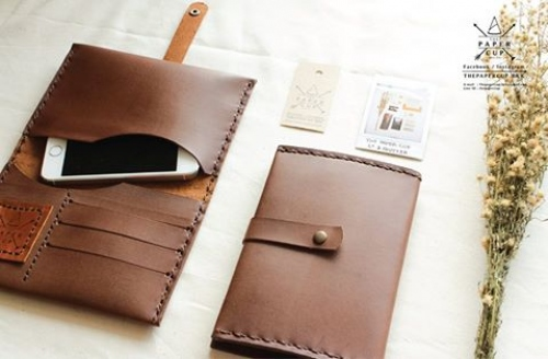 Leather Phone Clutch and Card Holder  large image 0 by ThePapercup