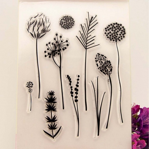 Vintage Flower Clear Stamp แสตมป์ ตรายาง ปั้มใส large image 0 by KANCHISA