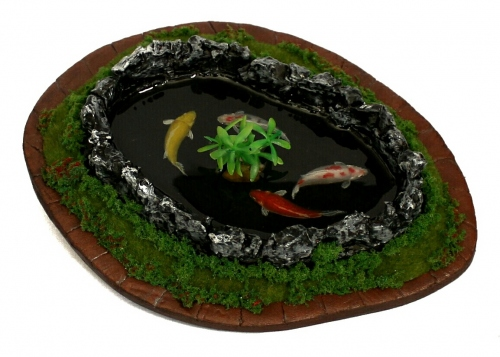 Koi fish painting in resin large image 4 by Piccolo