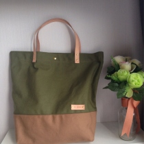 Military Green Canvas Tote at Blisby