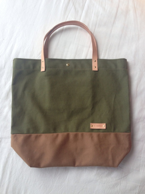Military Green Canvas Tote large image 1 by bebrave