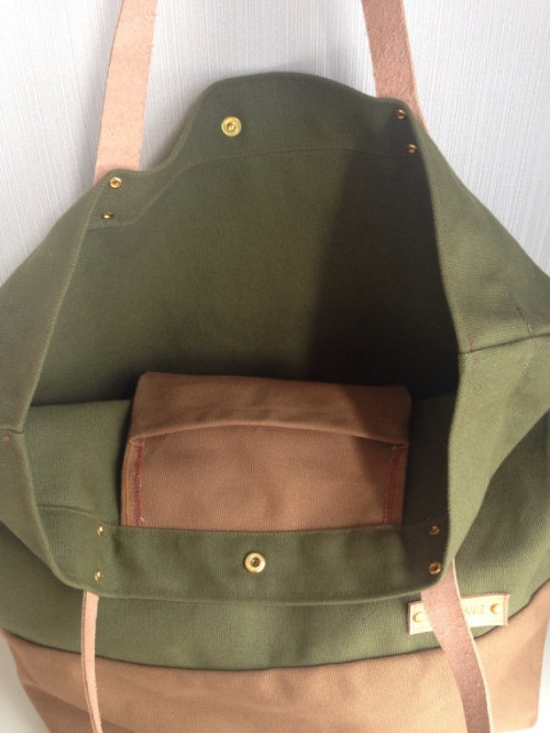 Military Green Canvas Tote large image 2 by bebrave