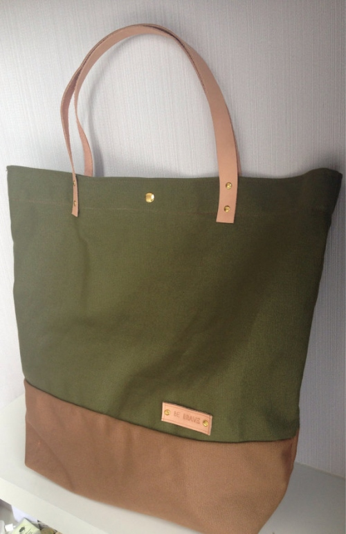 Military Green Canvas Tote large image 3 by bebrave