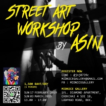 Street Art Workshop by ASIN at Blisby