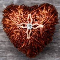 Valentine's Copper Wire Heart at Blisby